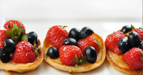 Blinis de fruits rouges au Sirop d'Agave Sunny Via®